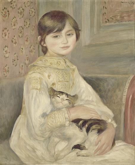 「ジュリー・マネ」(1887年)ルノワール作