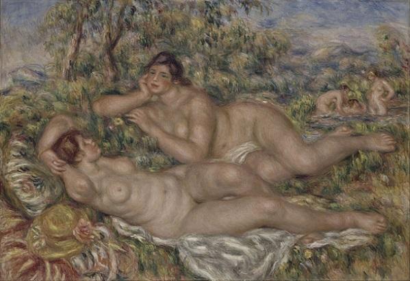 「浴女たち」(1918-1919年)ルノワール作