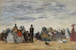 「トルーヴィルの海岸」(1865年)ウジェーヌ・ブーダン