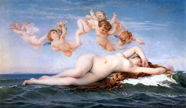 「ヴィーナスの誕生」(1863年)アレクサンドル・カバネル