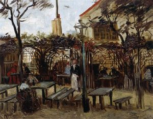 「モンマルトルの酒場」(1886年)フィンセント・ファン・ゴッホ