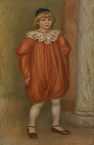 「道化師(ココの肖像)」(1909年)ピエール=オーギュスト・ルノワール