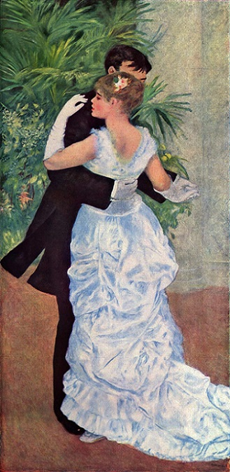「都会のダンス」(1883年)ピエール=オーギュスト・ルノワール