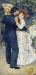 「田舎のダンス」(1883年)ピエール=オーギュスト・ルノワール