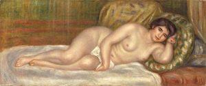 「横たわる裸婦(ガブリエル)」(1906年頃)ピエール=オーギュスト・ルノワール