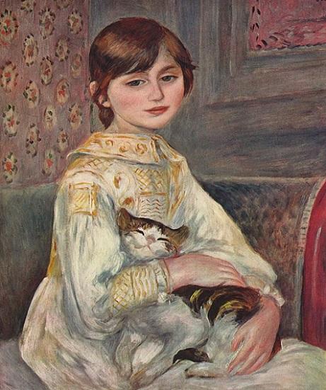 「ジュリー・マネ(猫を抱く子ども)」(1887年)ピエール=オーギュスト・ルノワール