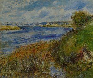 「シャンロゼーのセーヌ川」(1876年)ピエール=オーギュスト・ルノワール
