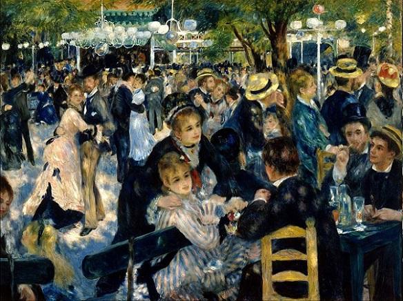 「ムーラン・ド・ラ・ギャレットの舞踏会」(1876年)ピエール=オーギュスト・ルノワール