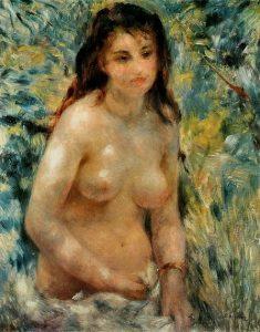 「陽光のなかの裸婦」(1876年)ピエール=オーギュスト・ルノワール