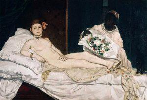 「オランピア」(1863年)エドゥアール・マネ