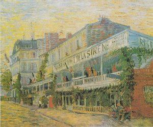 「アニエールのレストラン・ド・ラ・シレーヌ」(1887年)フィンセント・ファン・ゴッホ
