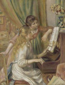 「ピアノを弾く少女たち」(1892年)ピエール=オーギュスト・ルノワール