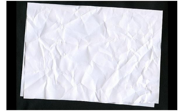 くしゃくしゃの紙