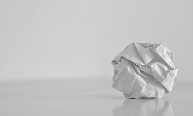 クシャクシャの紙はゴミ? or 芸術??
