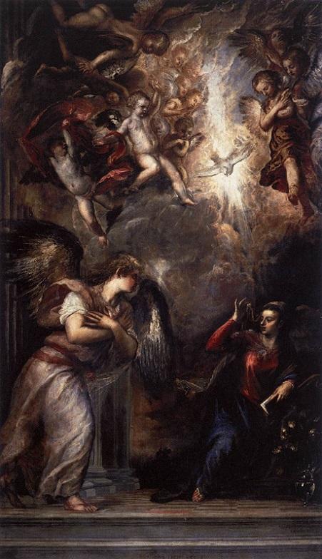 「受胎告知」(1562-64年)ティツィアーノ・ヴェチェッリオ作