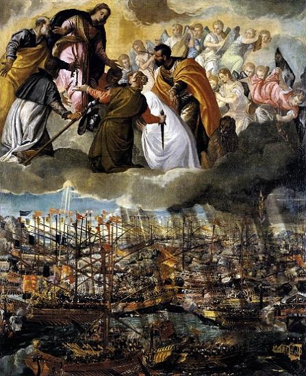 「レパントの海戦の寓意」(1572-73年)パオロ・ヴェロネーゼ