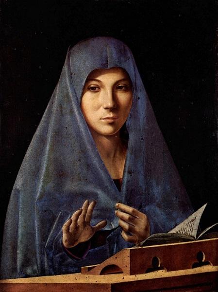 「受胎告知の聖母」(1467年頃)アントニオ・デ・サリバ