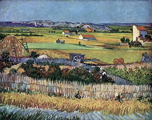 「収穫」(1888年)フィンセント・ファン・ゴッホ