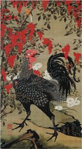 「南天雄鶏図」(1761‐1765年頃)伊藤若冲