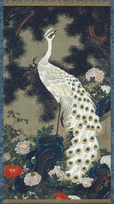 「老松孔雀図」(1757‐1760年頃)伊藤若冲