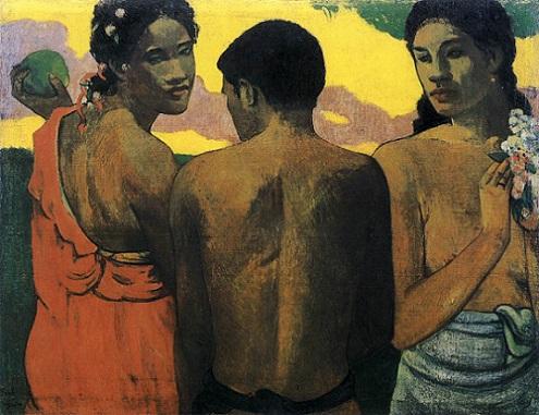 「タヒチの3人」(1899年)ポール・ゴーギャン