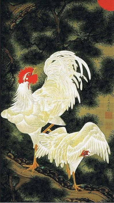 「老松白鶏図」(1757‐1760年頃)伊藤若冲