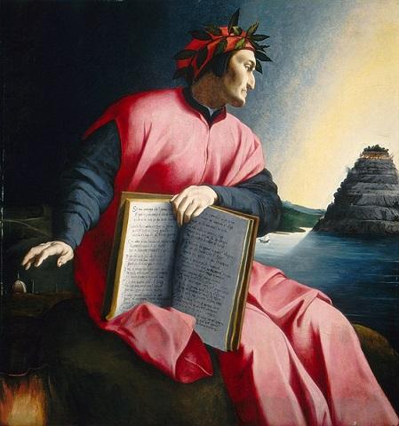 「ダンテ・アリギエーリ」(1530年代)アーニョロ・ブロンズィーノ?
