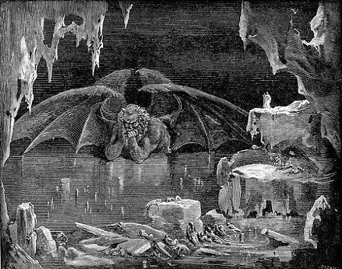 「Inferno Canto34」(1861~1868年)ギュスターヴ・ドレ