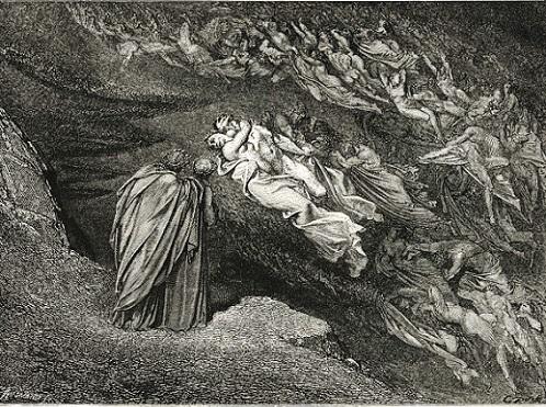 「Inferno Canto5(105-106」(1857年)ギュスターヴ・ドレ