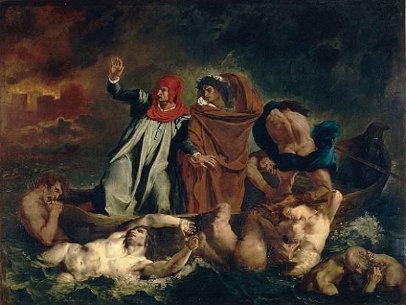 「ダンテの小舟」(1822年)ウジェーヌ・ドラクロワ