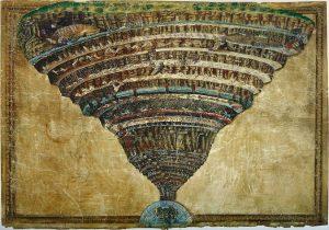 「地獄図(地獄の見取り図)」(1490年)サンドロ・ボッティチェッリ