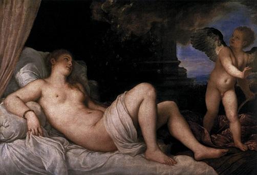 「ダナエ」(1544~1545年)ティツィアーノ・ヴェチェッリオ