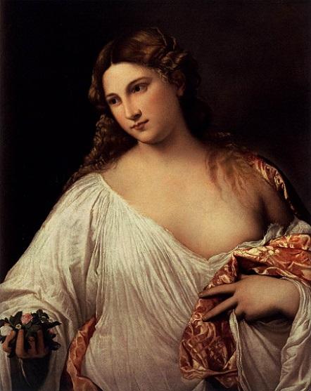 「フローラ」(1515年)ティツィアーノ・ヴェチェッリオ