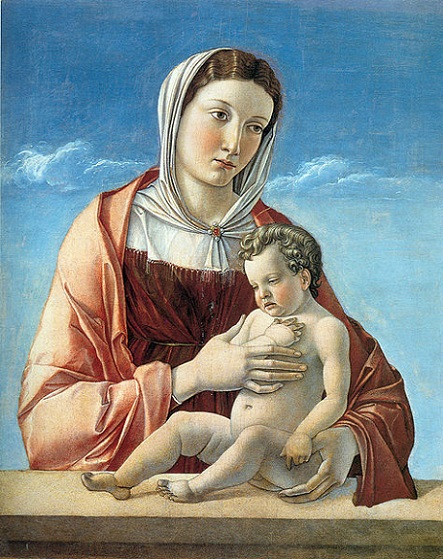 「聖母子(フリッツォーニの聖母)」(1470年)ジョヴァンニ・ベッリーニ