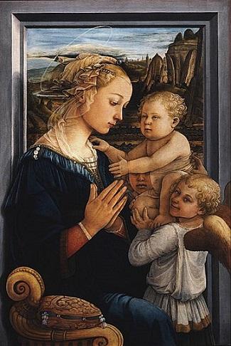 「聖母子と天使」(1465年)フィリッポ・リッピ