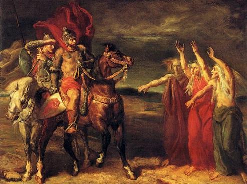 「マクベス」(1855年)テオドール・シャセリオー