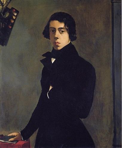 「自画像」(1835年)テオドール・シャセリオー