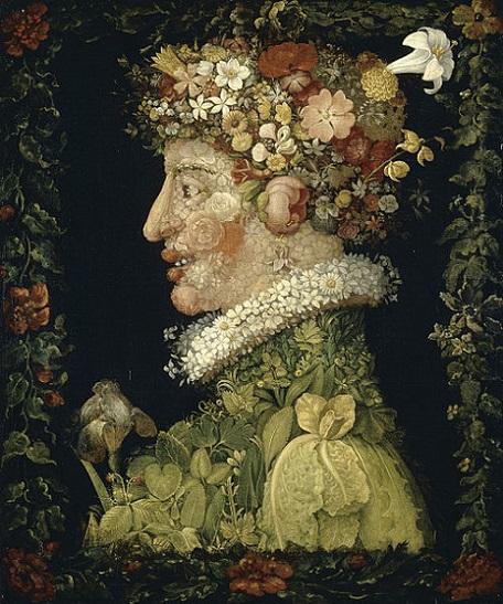 「春」(1573年)ジュゼッペ・アルチンボルド