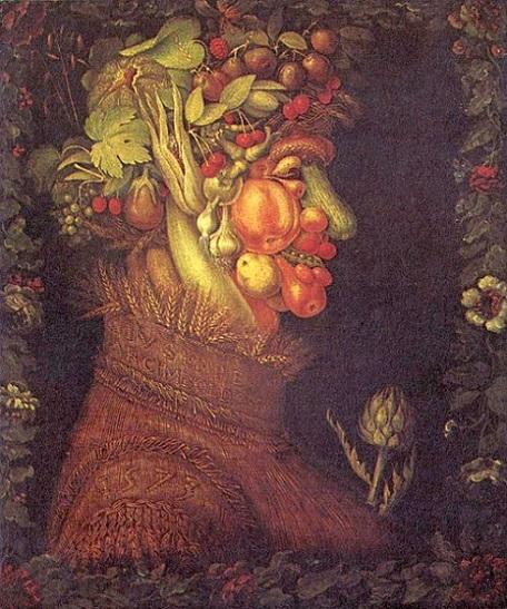 「夏」(1573年)ジュゼッペ・アルチンボルド