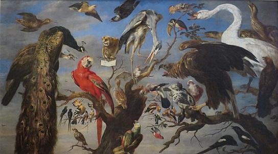 「鳥のコンサート」(1630年代)フランス・スネイデルス