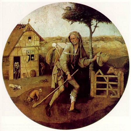 「放浪者(行商人)」(1450年)ヒエロニムス・ボス