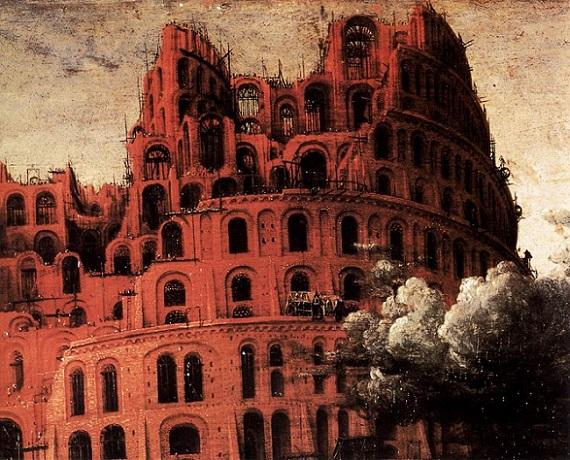 「バベルの塔(detail)」(1568年頃)ピーテル・ブリューゲル1世
