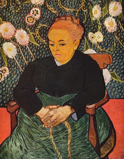 「子守唄、ゆりかごを揺らすオーギュスティーヌ・ルーラン夫人」(1889年)ファン・ゴッホ