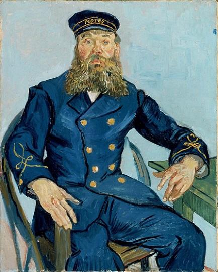「郵便配達人ジョゼフ・ルーラン」(1888年)ファン・ゴッホ