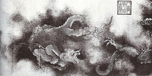 「九龍図巻」(1244年)陳容