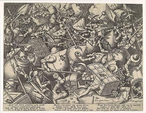 「金銭の戦い」ピーテル・ブリューゲル1世