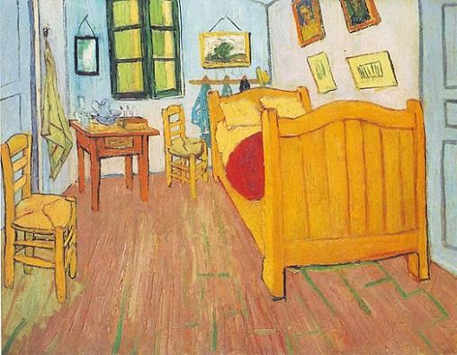 『寝室』(1888年)フィンセント・ファン・ゴッホ