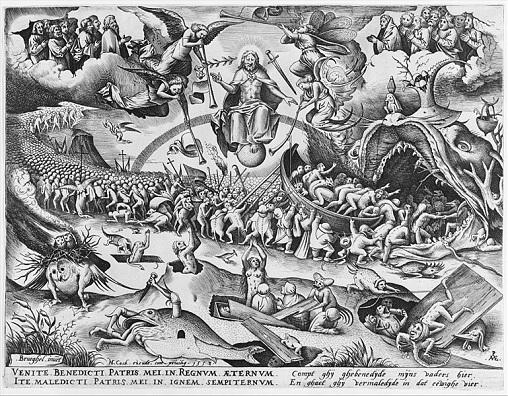 「最後の審判」(1558年)ピーテル・ブリューゲル1世