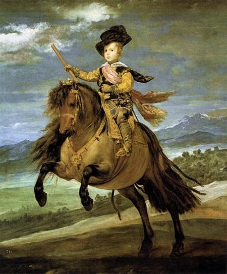 『王太子バルタサール・カルロス騎馬像』(1635~36年)ディエゴ・ベラスケス