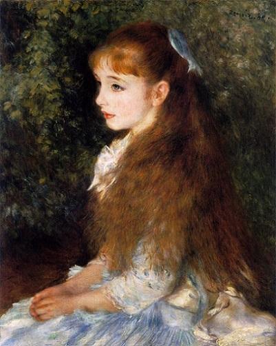 「イレーヌ・カーン・ダンヴェール嬢」(1880年)ルノワール